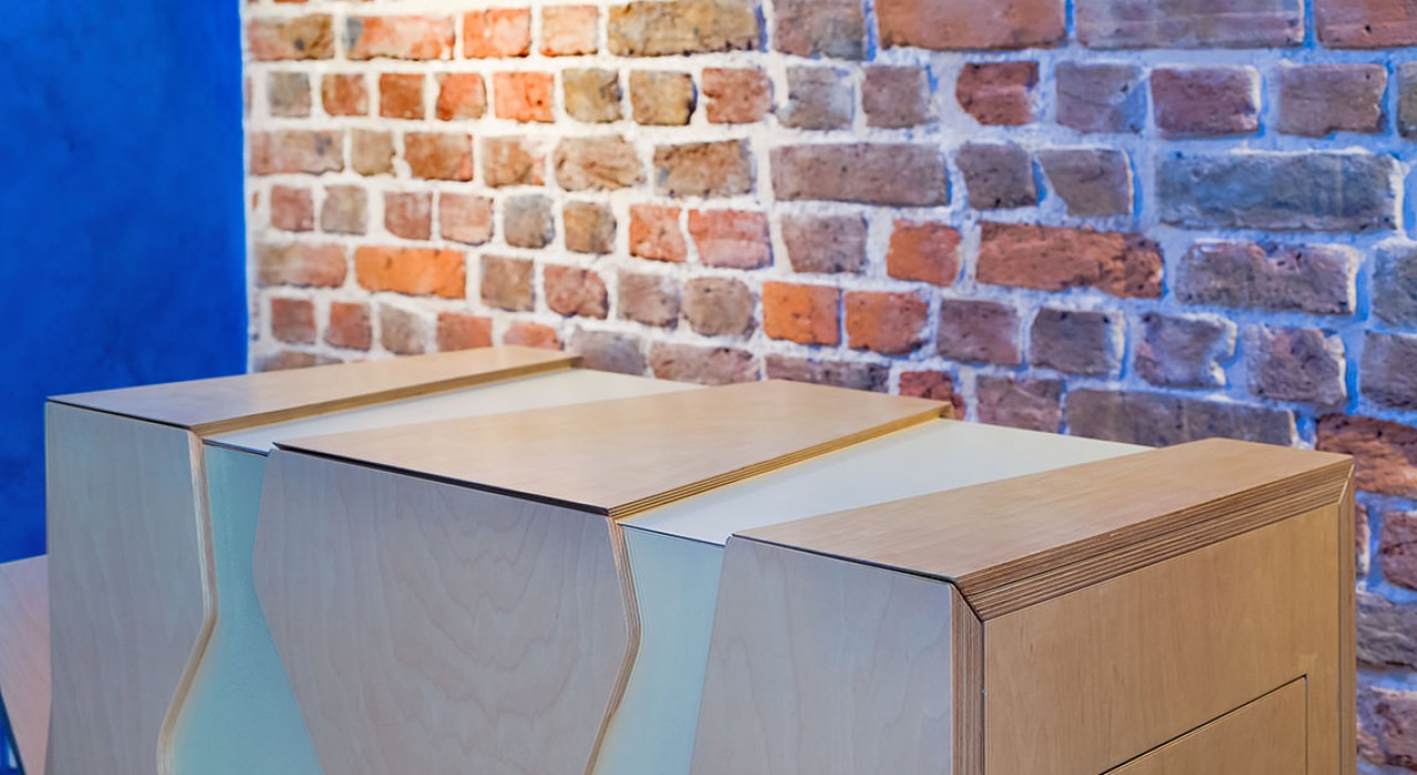 Xobo Furniture Zaom Servery Detail top no tray Bricks Damon Libby